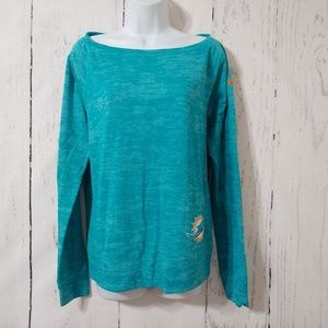 Nike Miami Dolphins Turquoise Sweater